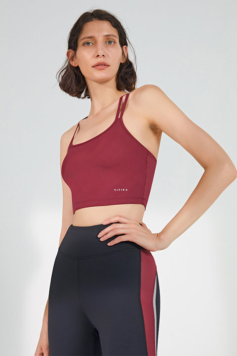 Crossed Back Yoga Bra Cami