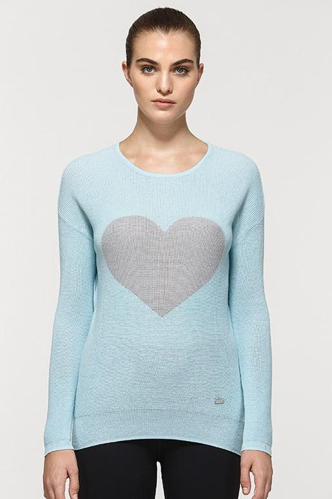 Jill Graphic Heart Sweater