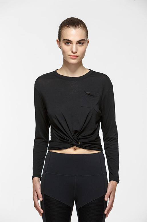 Twist Crop Long Sleeve Tee