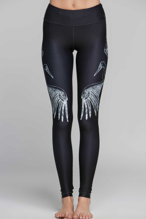 Lucky Graphic Stork Legging