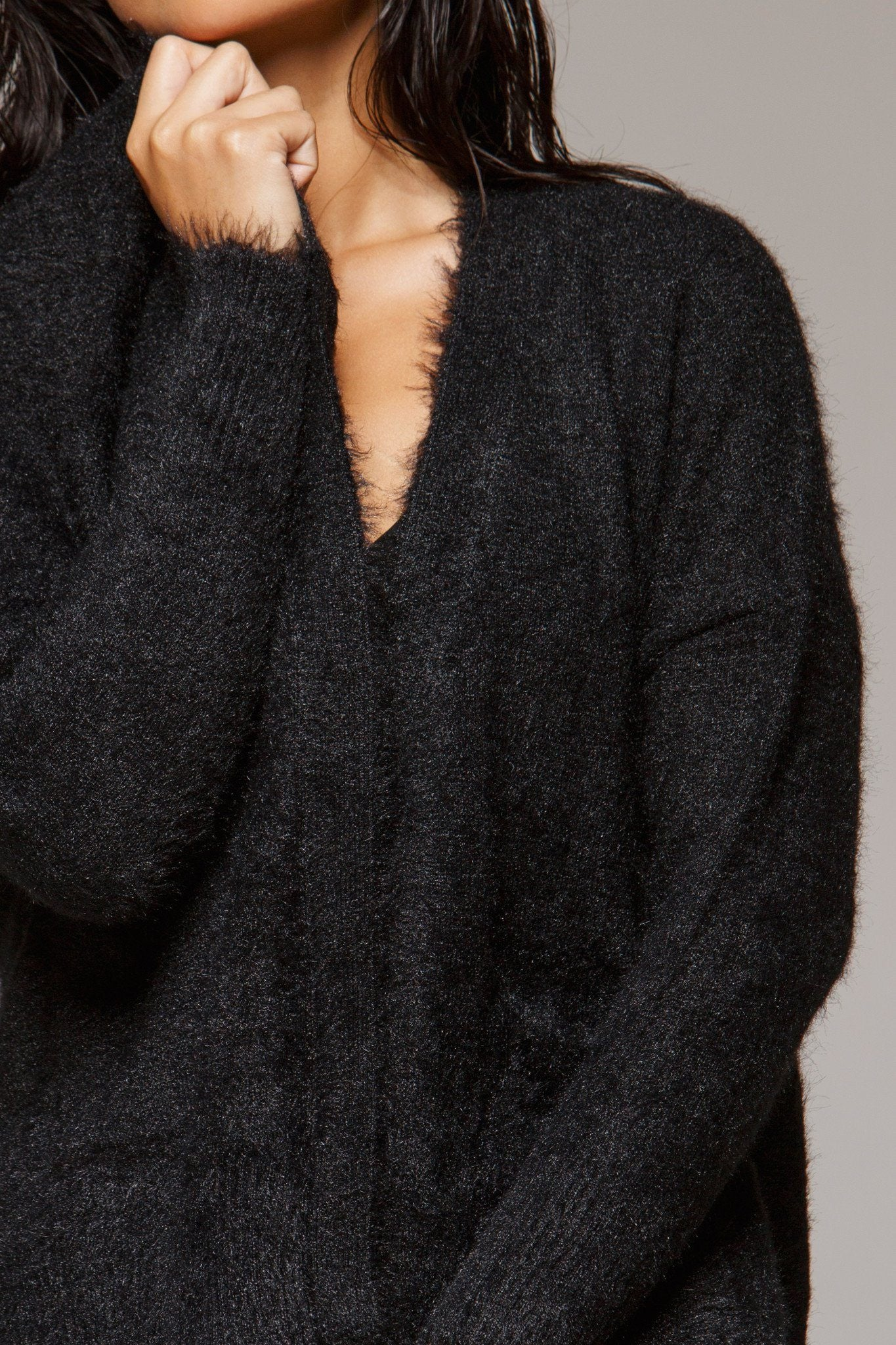 Deodar Vegan Fur Sweater