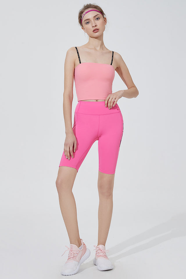 Streak Knee Cropped Leggings