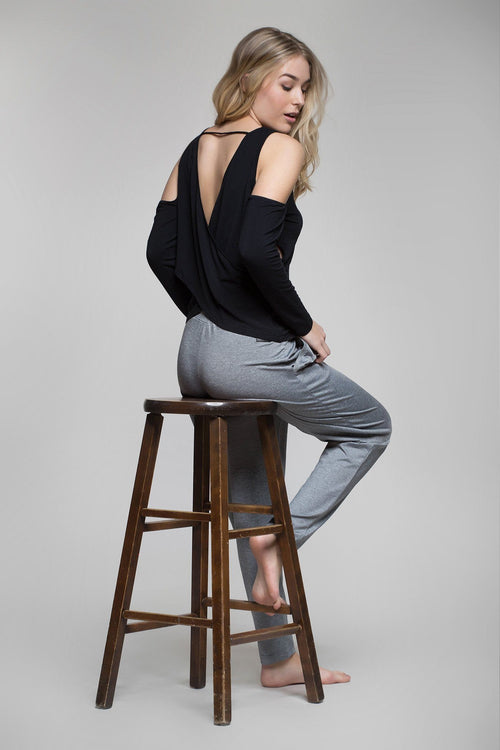Balsadari Draped-Back Top