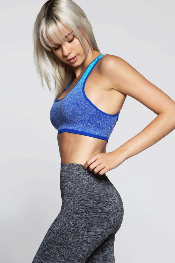 Racy Seamless Light Impact Bra - Blue