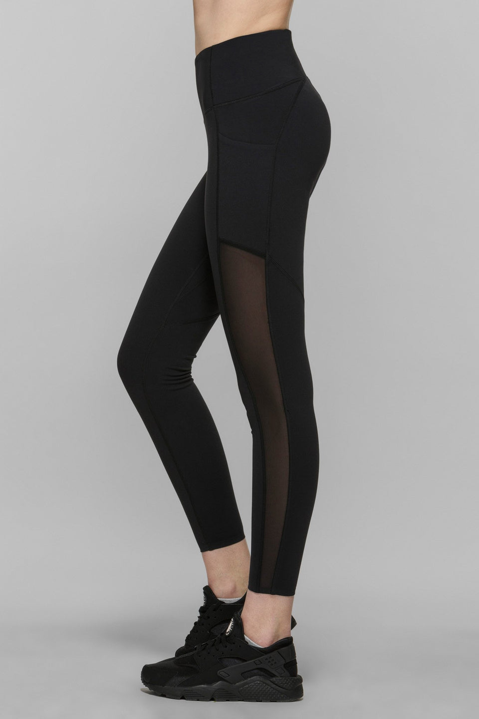 Compress Mesh Crop Leggings