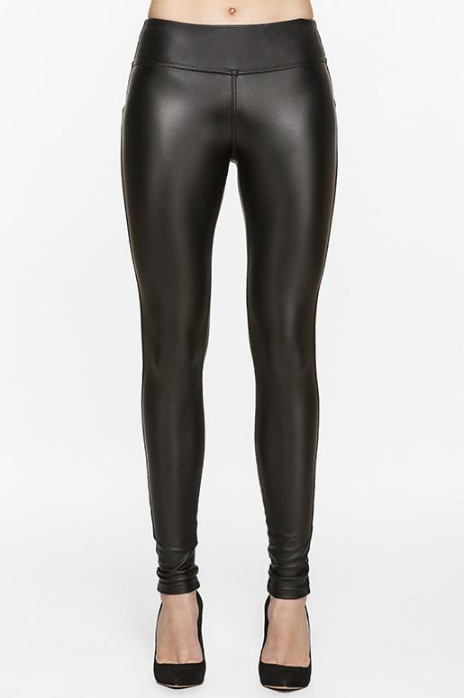 Diva Vegan Leather Fleece Legging 28