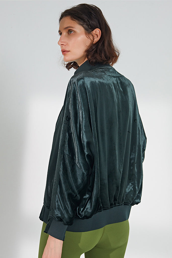 Vintage Bat Wing Silk Jacket
