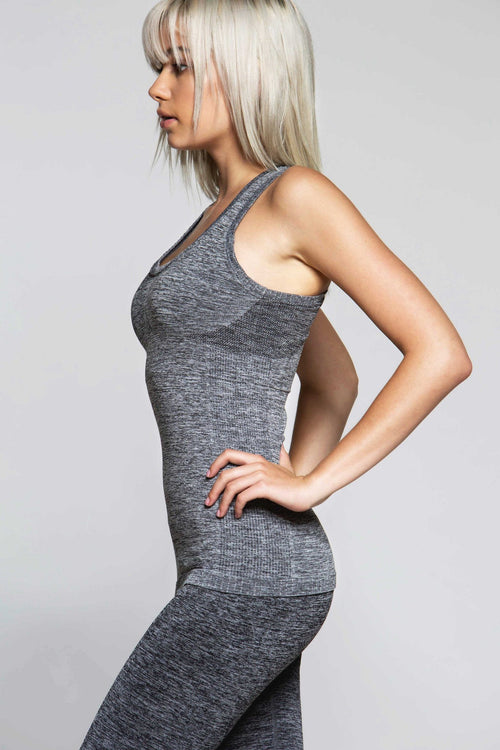 Racy Seamless Tank - Grey