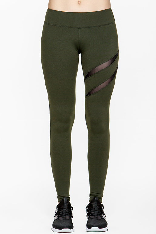 Heart Mesh Cut-Out Legging