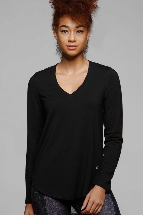 Pika Long Sleeve Asymmetrical Tee