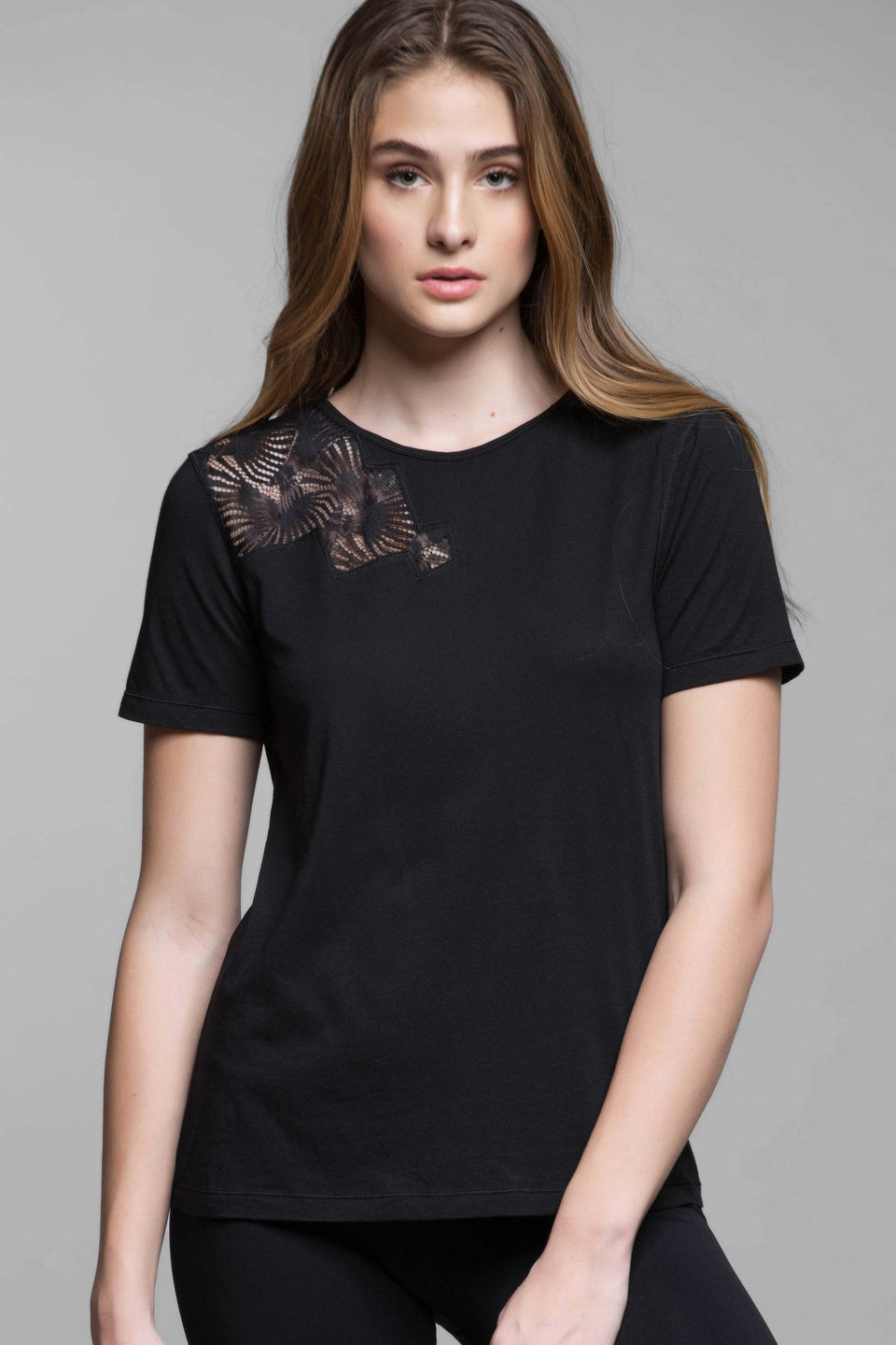 Lilla Lace Open Back Tee