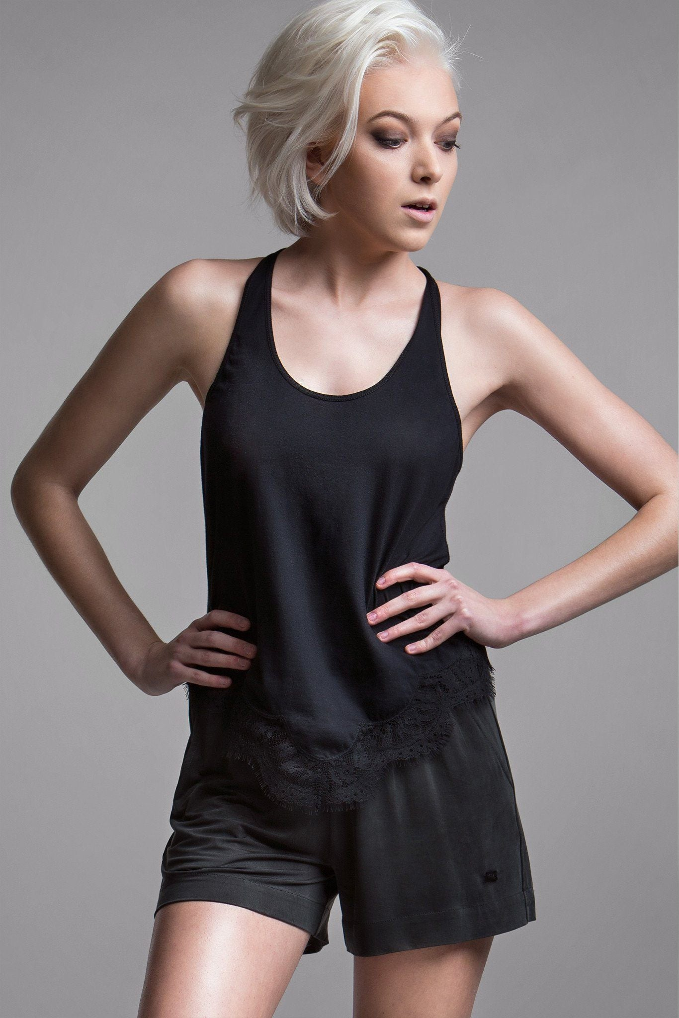 Martine Lace Trimmed Tank