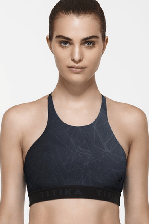 Krystal Graphic Medium Impact Bra