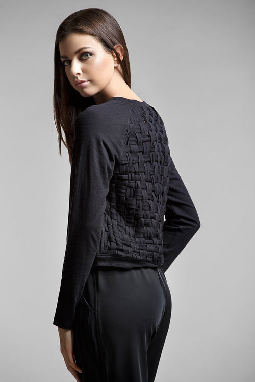 Ruby Long Sleeve Woven Sweater