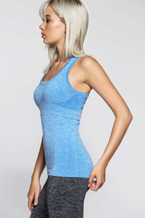 Racy Seamless Tank - Blue