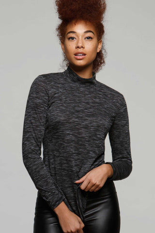 Triss Light Mock Neck Top