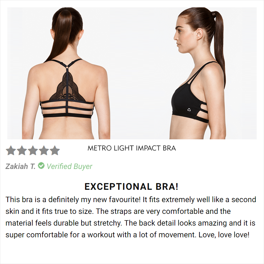Metro Light Impact Bra