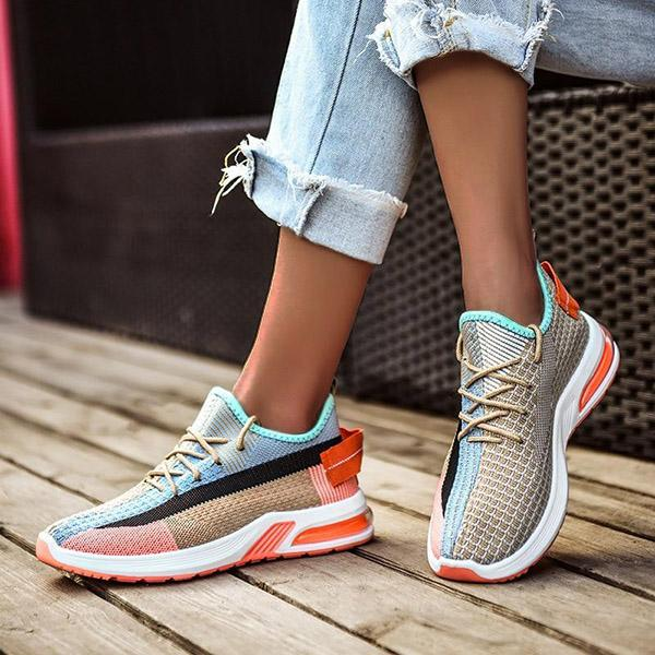 Mokoshoes Shockproof Lace Up Breathable Sneakers