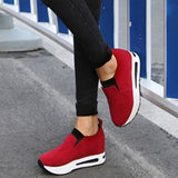 Mokashoes Nubuck Leather Slip-On Plain Sneakers