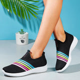 Mokashoes Athletic Mesh Rainbow Bar Sneakers