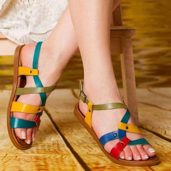 Mokashoes Color Leather Daily Summer Sandals