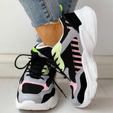 Mokashoes Colorblock Cool Fashion Lace-Up Casual Platform Sneakers