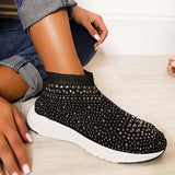Mokashoes Summer Studded Socks Slip-On Sneakers