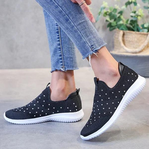 Mokashoes All Season Daily Fabric Flat Heel Sneakers