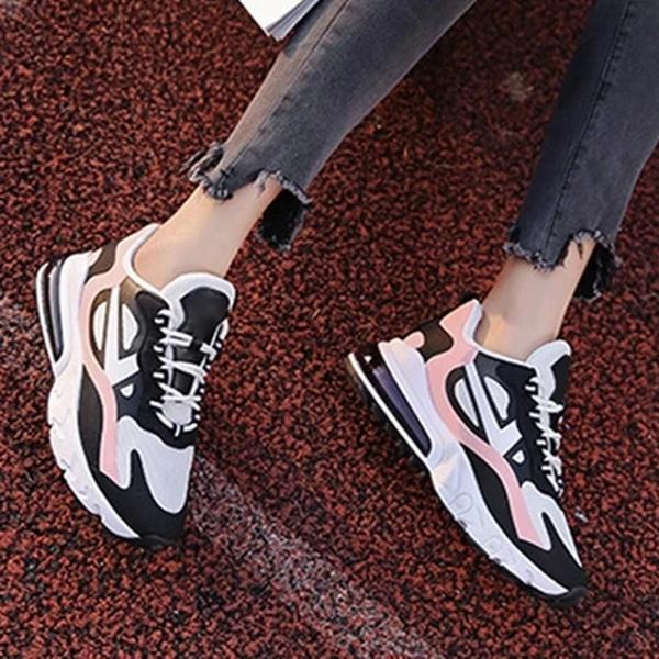 Mokashoes Thread Lace-Up Low-Cut Upper Round Toe PU Flat With Sneakers