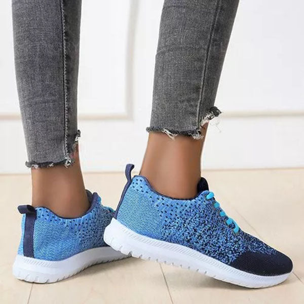 Mokashoes Women's Heels Lace Wedge Heel Sneakers