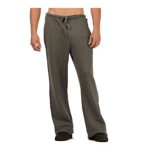 Fleece men's sweatpants with elastic waist, draw string and full length wide legs