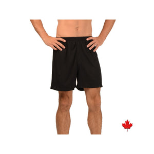 Faux fly bamboo boxers with elastic waist band in black