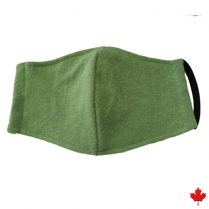 Hemp double layer face mask with stretchy ear bands