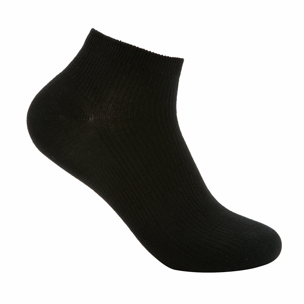 Black bamboo ankle length socks
