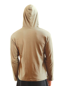 Men's T-Shirt Hoodie back view Hemp Organic Cotton