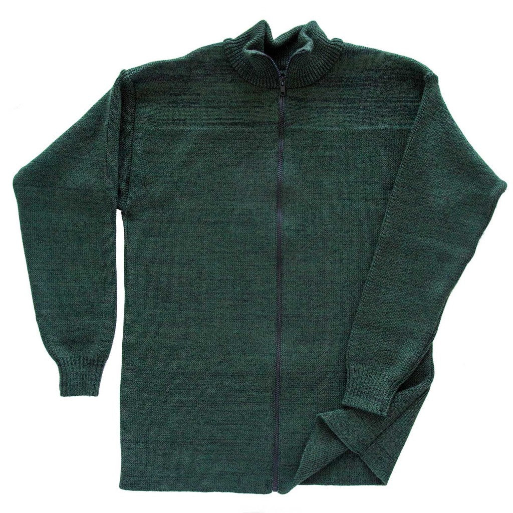POL Men's Zippered Wool Cardigan