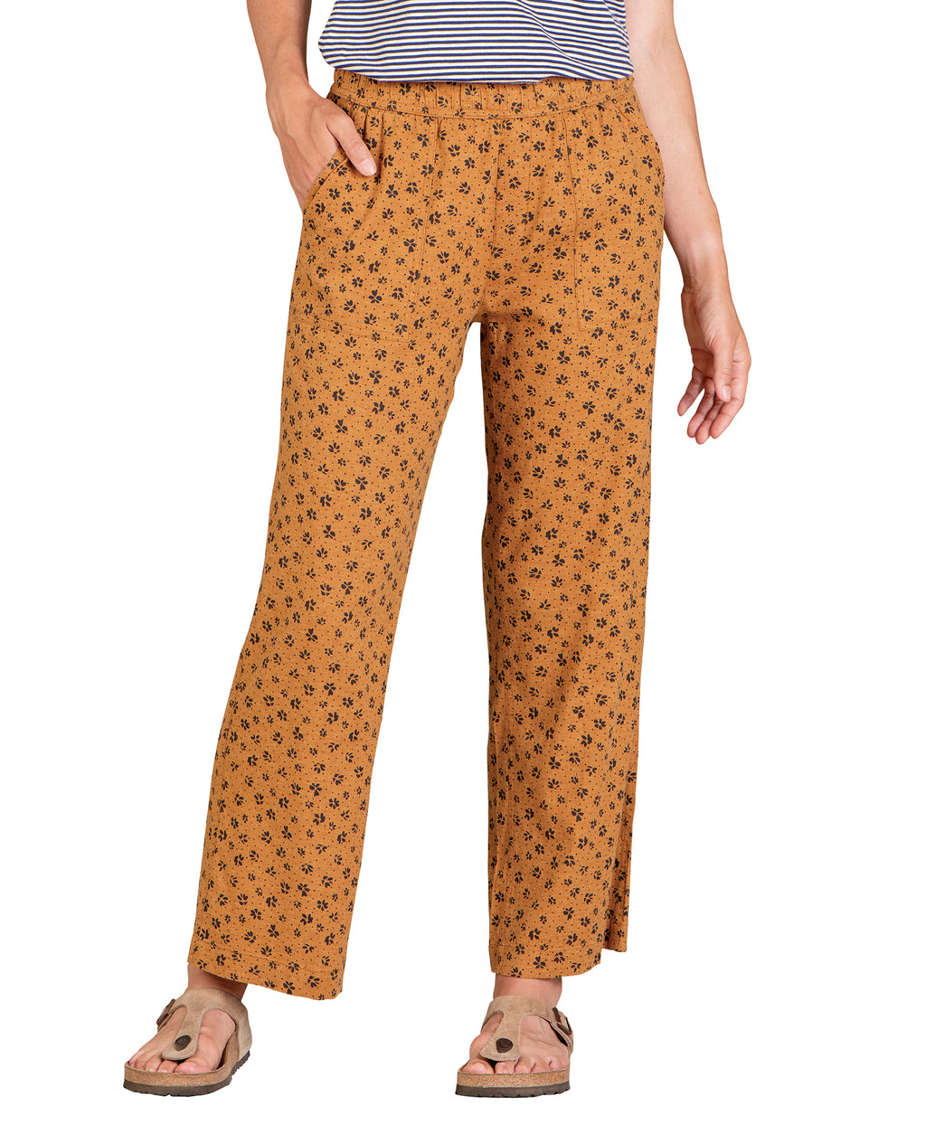 Elastic Waistband. Semi-Wide Length Pant.