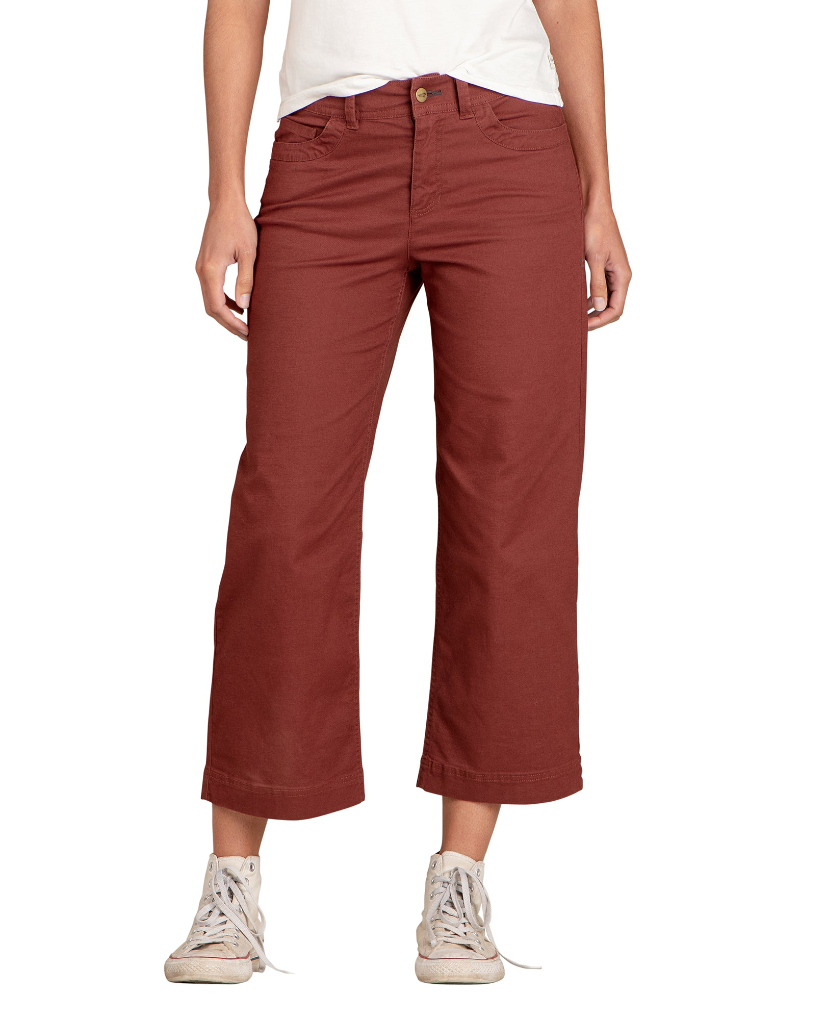 Wide Pants with 4 Functional Pockets