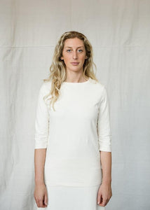 Women tee 3/4 sleeve natural hemp
