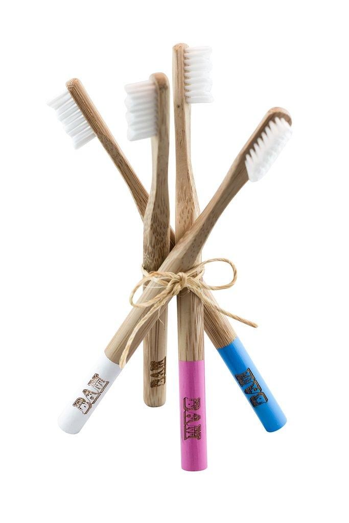 bamboo toothbrushes with removeable nylon bristles for easy recycling