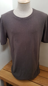 mens hemp tee shirt in light grey