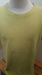 mens hemp tee shirt in light green