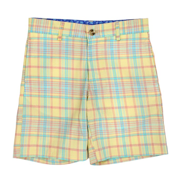 Bailey Boys Pete Short-Lemonade Plaid