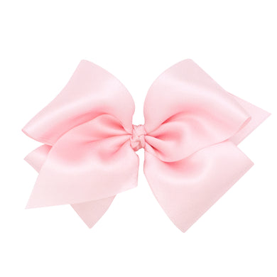 Wee Ones Small King Classic French Satin Bow On Pinch Clip