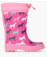 Load image into Gallery viewer, Hatley Horse Silhouettes Sherpa Lined Rainboots
