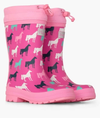 Hatley Horse Silhouettes Sherpa Lined Rainboots