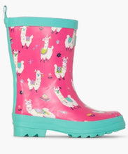 Load image into Gallery viewer, Hatley Pretty Alpacas Shiny Rainboots