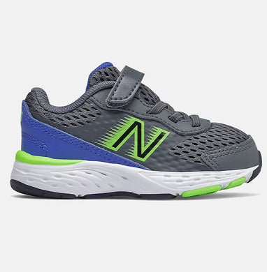 Bungee Lace 680v6 Lead with Cobalt Blue & Energy Lime