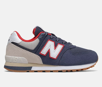 New Balance 574 Sport Pack Sneaker/ Navy with Moonbeam