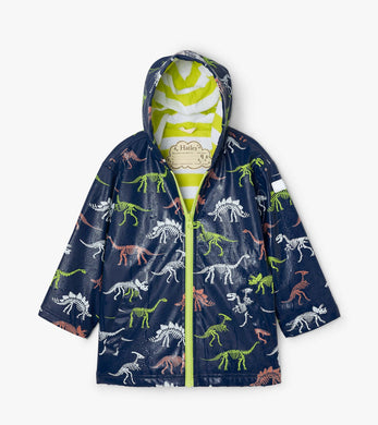 Hatley Dino Fossils Color Changing Splash Jacket